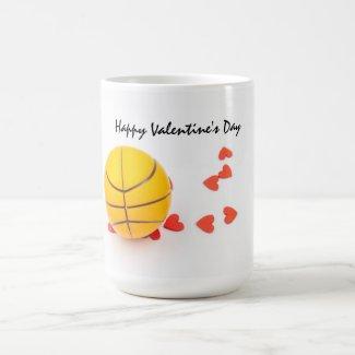 Basketball Valentine's Day Basketball with love Coffee Mug