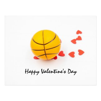Basketball Valentine's Day Basketball with love Postcard