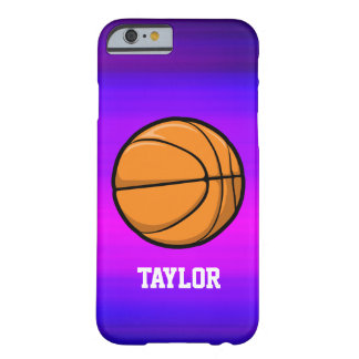 Basketball; Vibrant Violet Blue and Magenta Barely There iPhone 6 Case