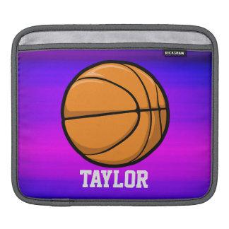 Basketball; Vibrant Violet Blue and Magenta iPad Sleeves