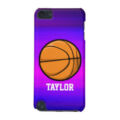 Basketball; Vibrant Violet Blue And Magenta Ipod Touch 5g Case at Zazzle