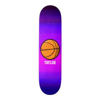 Basketball; Vibrant Violet Blue and Magenta Skateboard