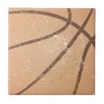 basketball vintage ceramic tile