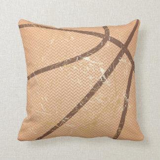 basketball vintage throw pillow