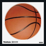 """Basketball Wall Decal<br><div class=""""desc"""">Basketball Wall Decal.  Great for temporary decoration!  Decorate walls,  windows,  lockers,  dorm rooms,  etc.</div>"""