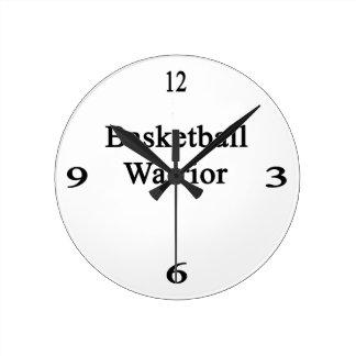 Basketball Warrior Round Wallclocks