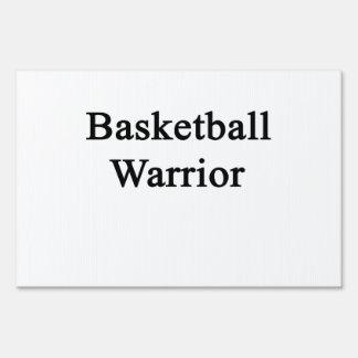 Basketball Warrior Lawn Sign
