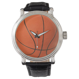 Basketball Watch Vintage style with leather strap