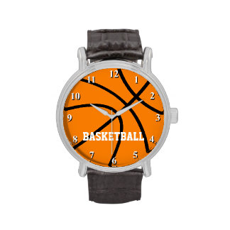 Basketball watch with custom text