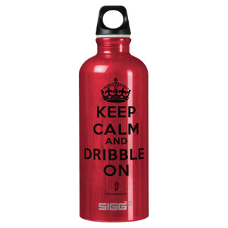BASKETBALL WATER BOTTLE  DRIBBLE ON. Red bt
