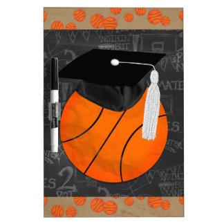 Basketball Wearing Graduation Cap, Basketball Word Dry Erase Board
