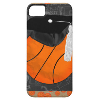Basketball Wearing Graduation Cap, Basketball Word iPhone SE/5/5s Case
