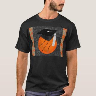 Basketball Wearing Graduation Cap, Basketball Word T-Shirt