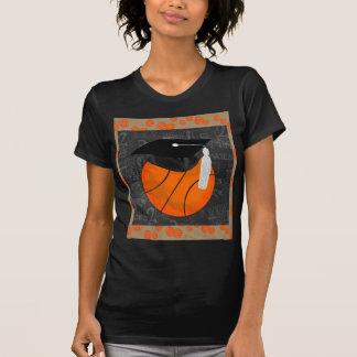 Basketball Wearing Graduation Cap, Basketball Word T Shirt