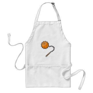 basketball whip mace apron