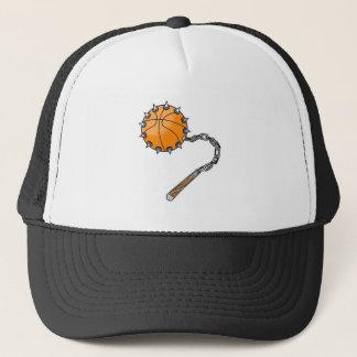 basketball whip mace trucker hat