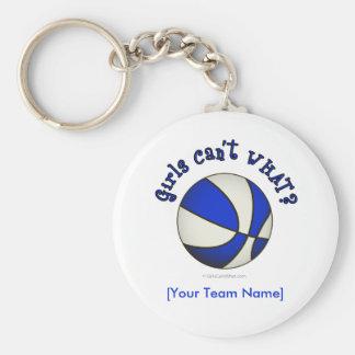 Basketball - White/Blue Keychain