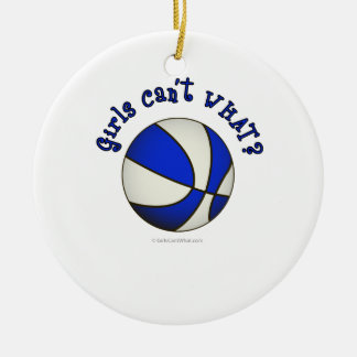 Basketball - White/Blue Products Ceramic Ornament