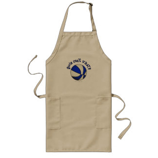 Basketball - White/Blue Products Long Apron