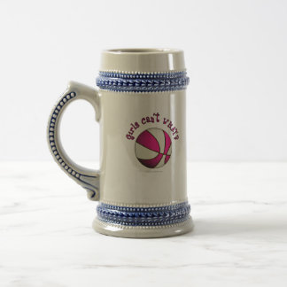 Basketball - White/Pink Beer Stein