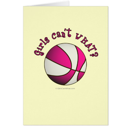 Basketball - White/Pink Card
