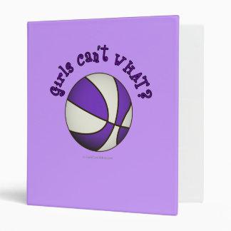 Basketball - White/Purple Binder