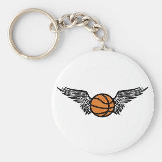 basketball. winged. keychain