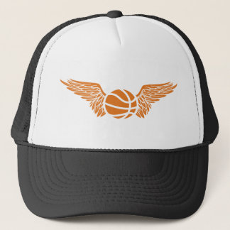 basketball. winged. trucker hat