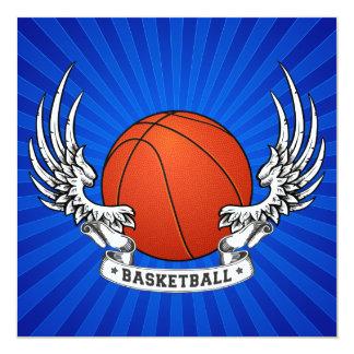 Basketball Wings Invitation