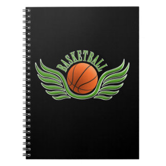 basketball wings spiral note book