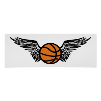 basketball : wings print