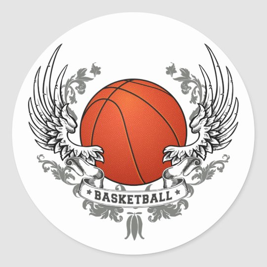 Basketball Wings Sticker