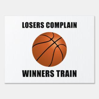 Basketball Winners Train Lawn Sign