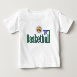 Basketball with Ball n Net Baby T-Shirt