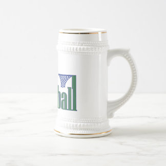 Basketball with Ball n Net Beer Stein