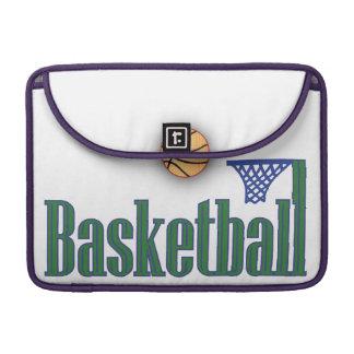 Basketball with Ball n Net MacBook Pro Sleeve