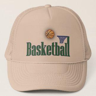 Basketball with Ball n Net Trucker Hat