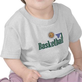 Basketball with Ball n Net Tshirts