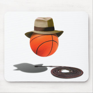 Basketball With Fedora and Whip Mouse Pad