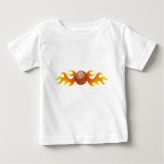 Basketball with Flames Baby T-Shirt