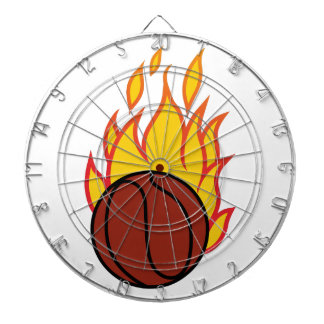 Basketball with Flames Dart Board
