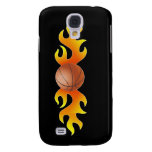 Basketball with Flames Galaxy S4 Covers
