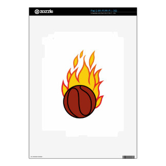 Basketball with Flames Skin For iPad 2