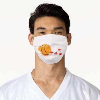 Basketball with love adult cloth face mask