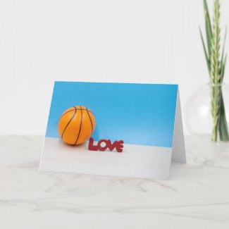 Basketball with love card