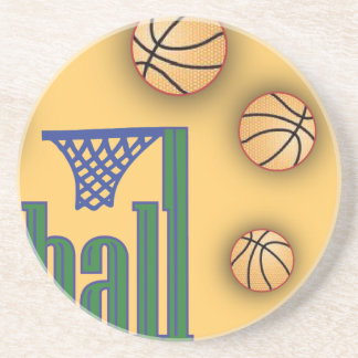 Basketball with Net Drink Coaster