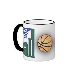 Basketball with Net Coffee Mug