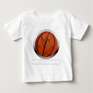Basketball with Skull- Personalized Baby T-Shirt