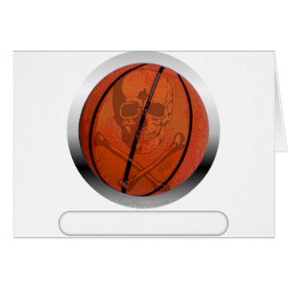 Basketball with Skull- Personalized Card