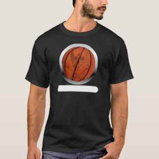Basketball with Skull- Personalized T-Shirt